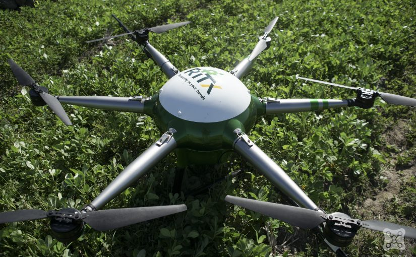 Hover Test Drone Sprayer