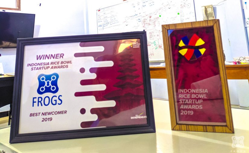 Frogs sebagai Winner Indonesia Rice Bowl Startup Awards 2019 as Best Newcomer 2019