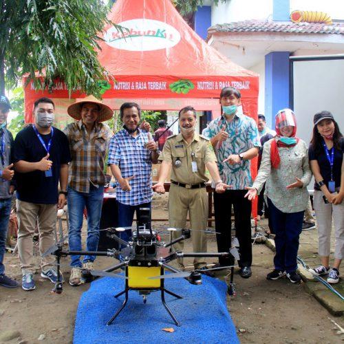 demo drone sprayer frogs indonesia mercu buana yogyakarta