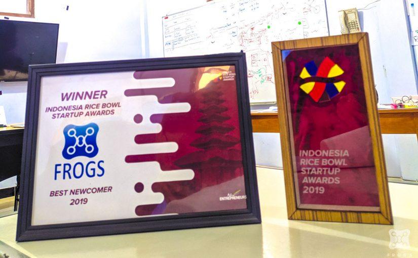 Frogs sebagai Winner Indonesia Rice Bowl Startup Awards 2019 as Best Newcomer 2019